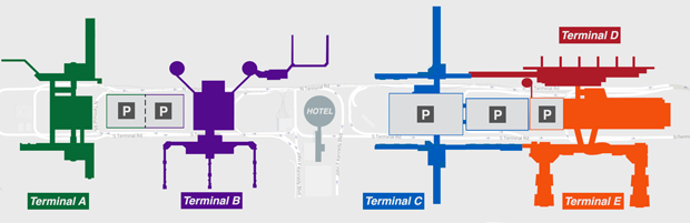 houston airport map and terminal map